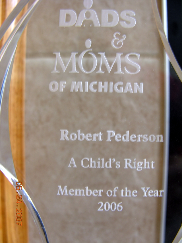 Thank you for the Award Dads and Moms of Michigan