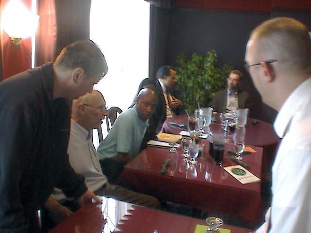 2008 Presidential Candidate Dr. Mark Klein, Robert Pedersen, Minister Ronald Smith, Dr. Stephen Bask